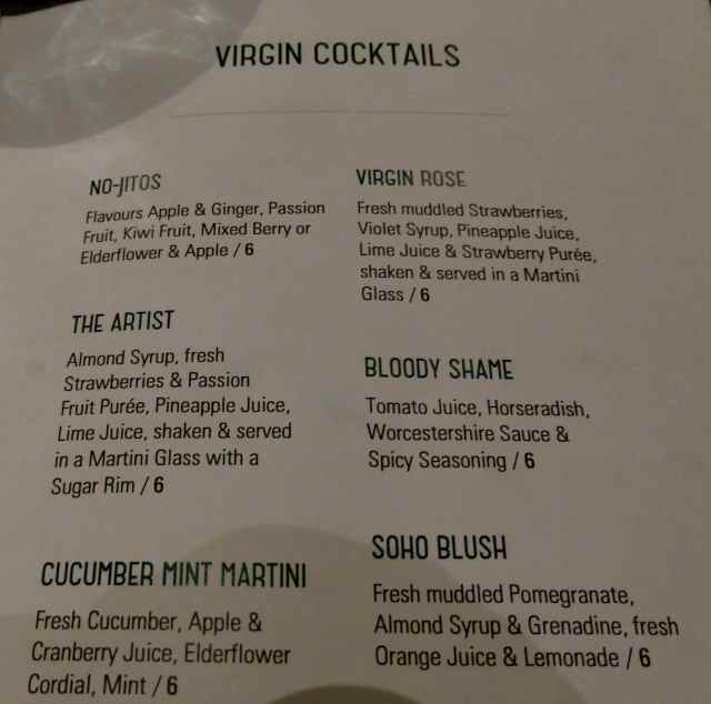 Christopher's Virgin Cocktails