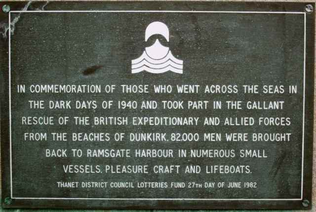 commemoration plaque in Ramsgate