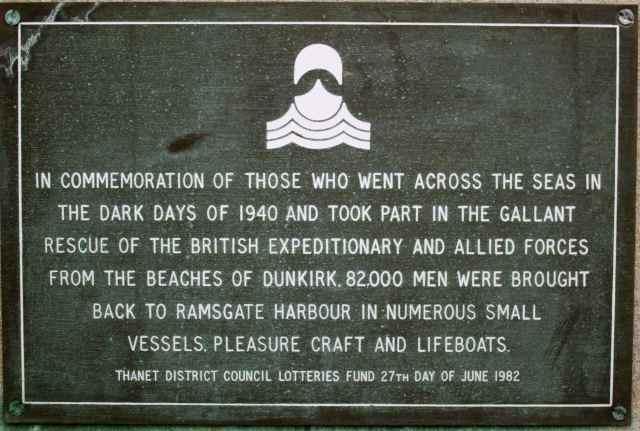 commemoration plaque in Ramsgate