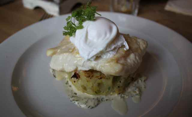 haddock with bubble and squeak