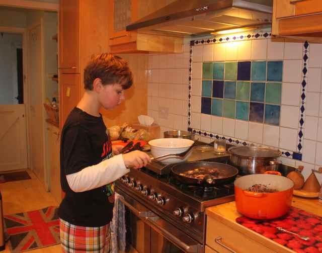Harvey cooking