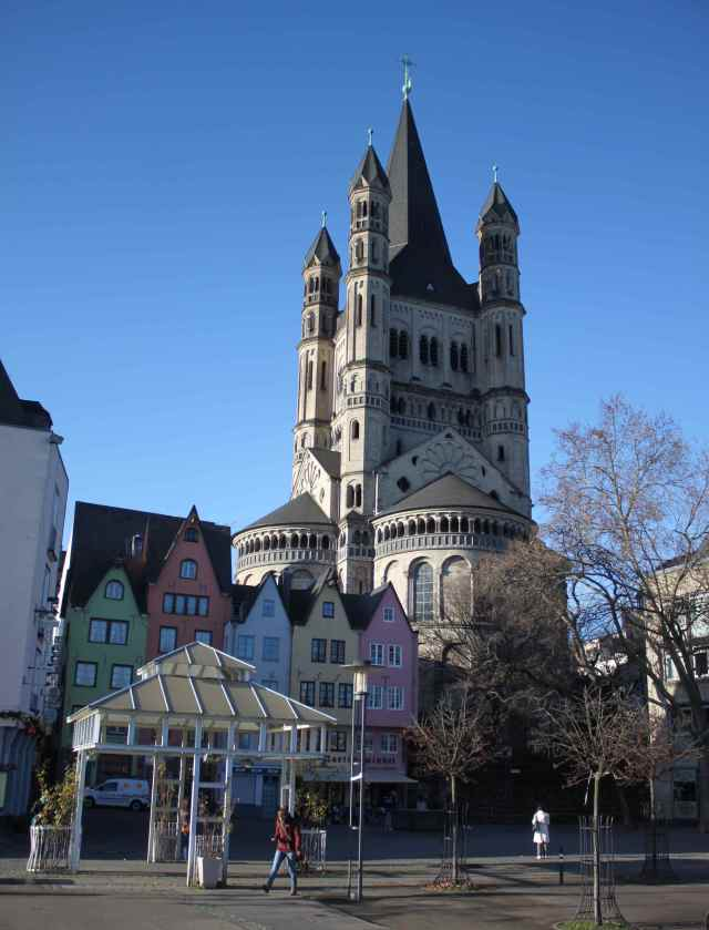 Koln old town and large church