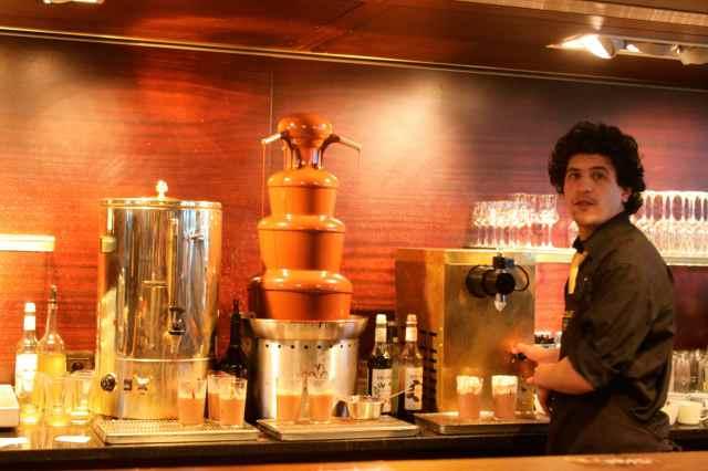 making hot chocolates