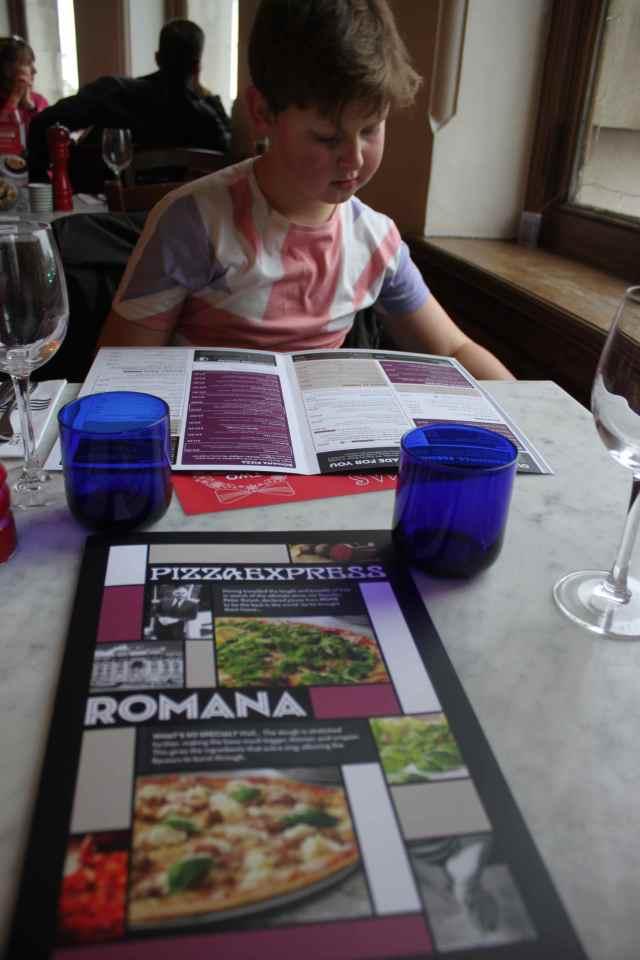 Pizza Express Romana menu