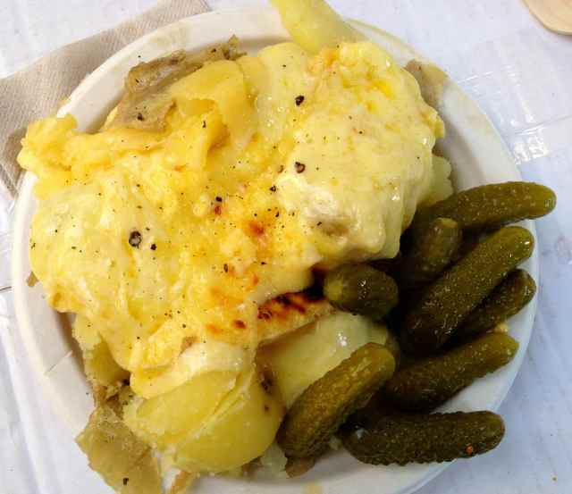 Raclette and gherkins 12-12-13