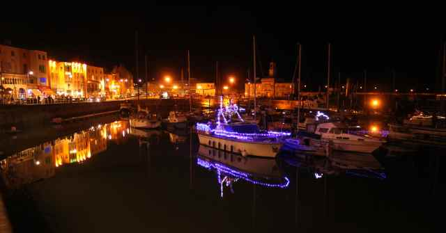 Ramsgate Marina by night