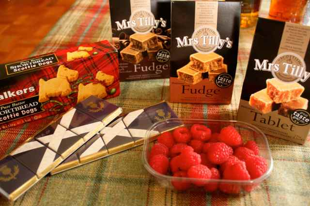 Scottish Sweets and raspberries