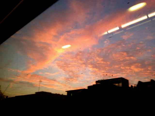 sky from train