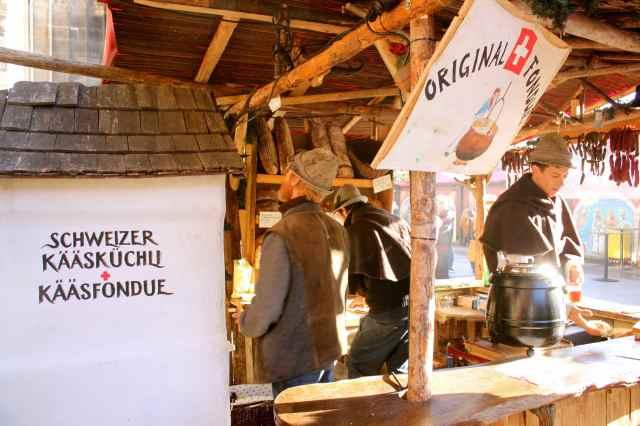 Swiss fondue stall