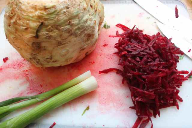 celeriac and beetroot