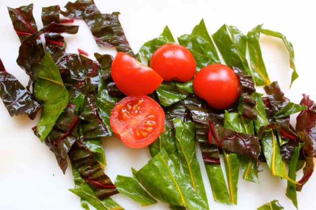 chard and tomatoes