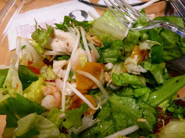 chicken and prawn salad