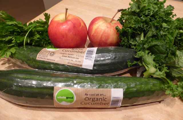 cucumbers, kale, parsley and apples
