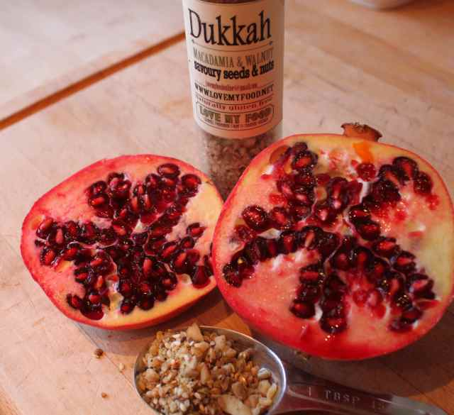 dukkah and pomegranate