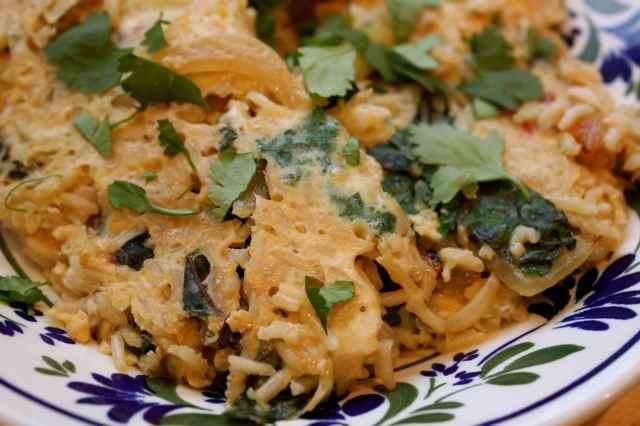 egg rice omelette