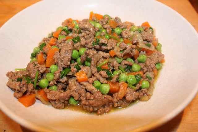 Khema with peas