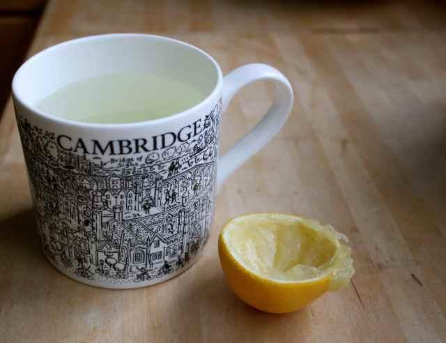 lemon and hot water
