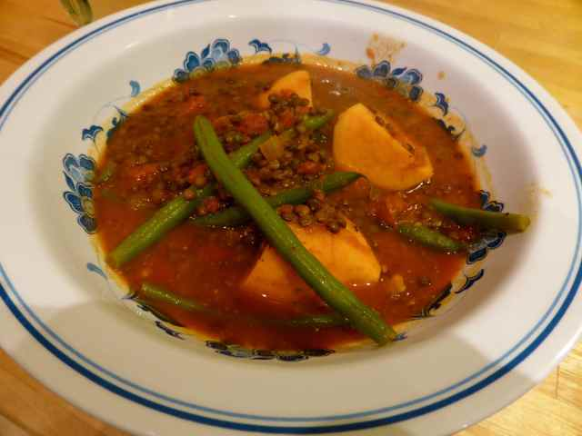 lentil and green bean curry