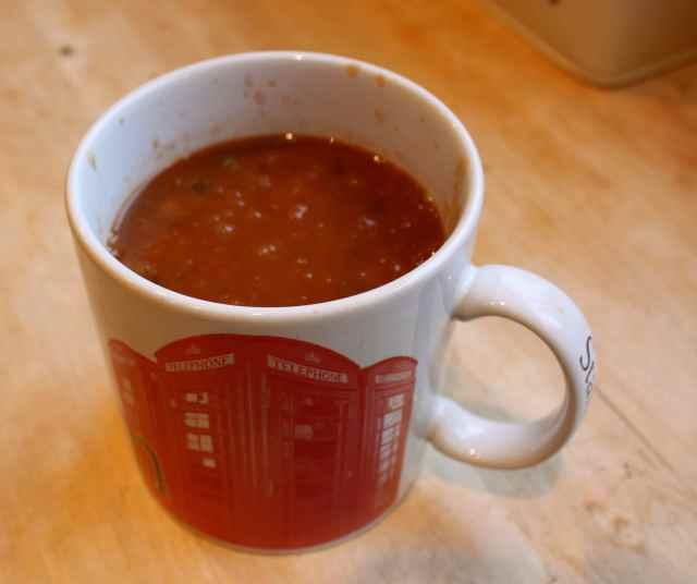 lentil soup in mug