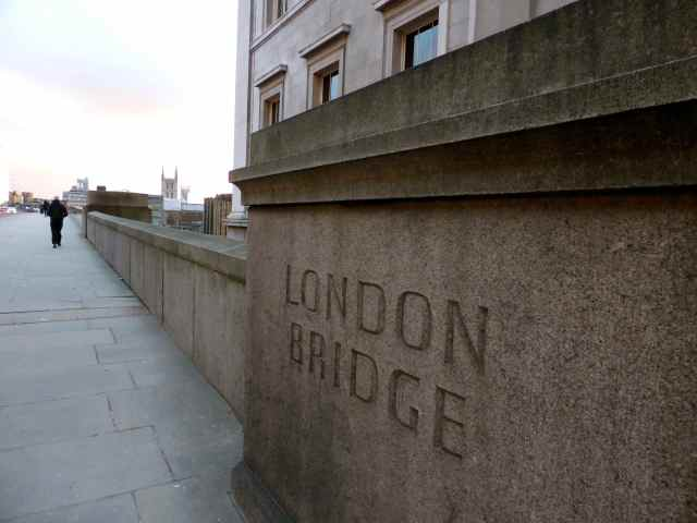 London Bridge in stone