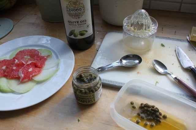 making kohlrabi salad