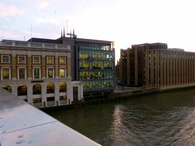 offices beside Thames