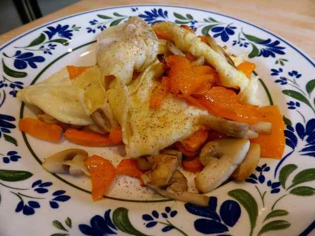 orange omelette