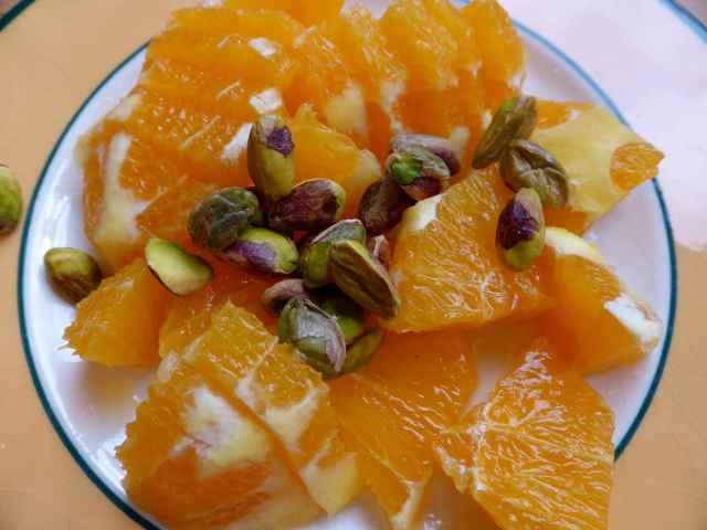 oranges and pistachios