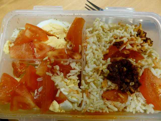rice and tomatoes and harissa