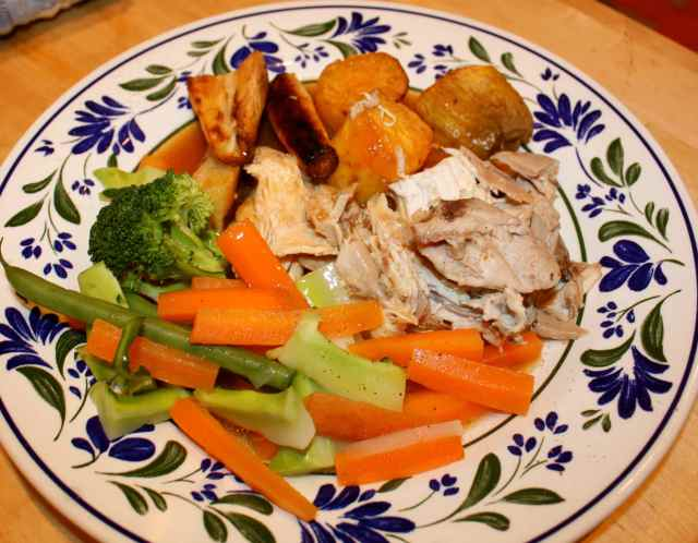 roast chicken dinner 12-1-14