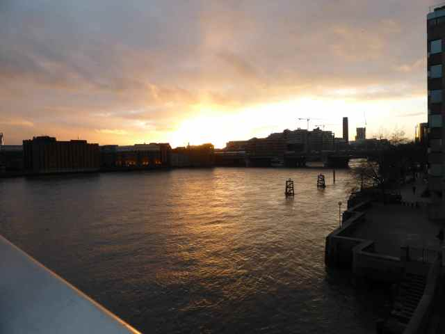 sunset from London Bridge