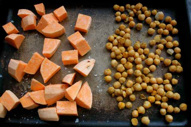 sweet potato and chick peas