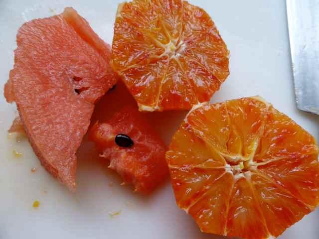 watermelon and blood orange