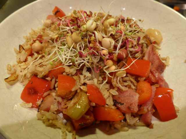 bacon stir fry