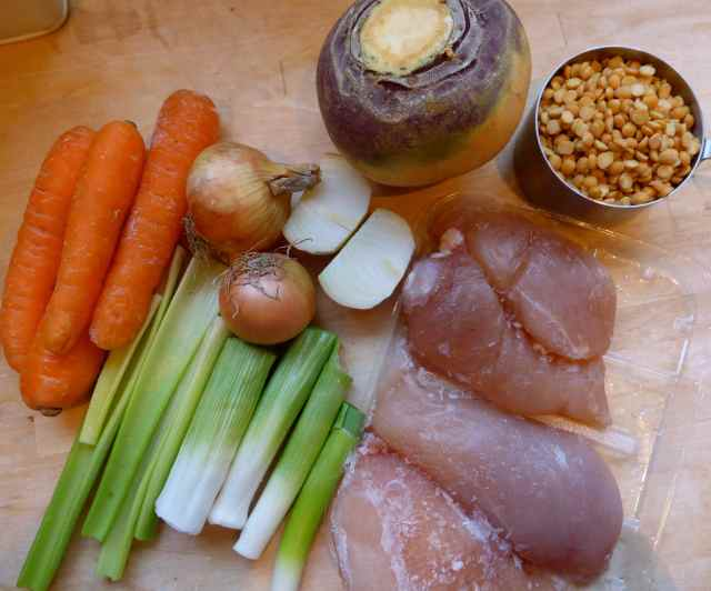 chicken soup ingredients