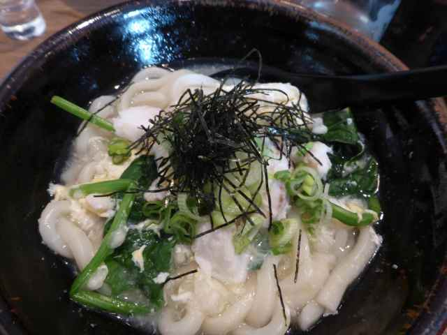 cod and spinach udon