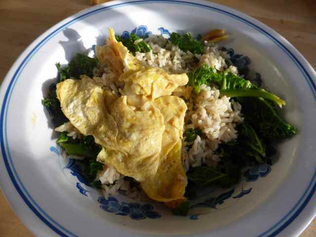 egg and green veg