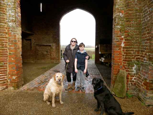 Gail and Harvey at Sissinghurst