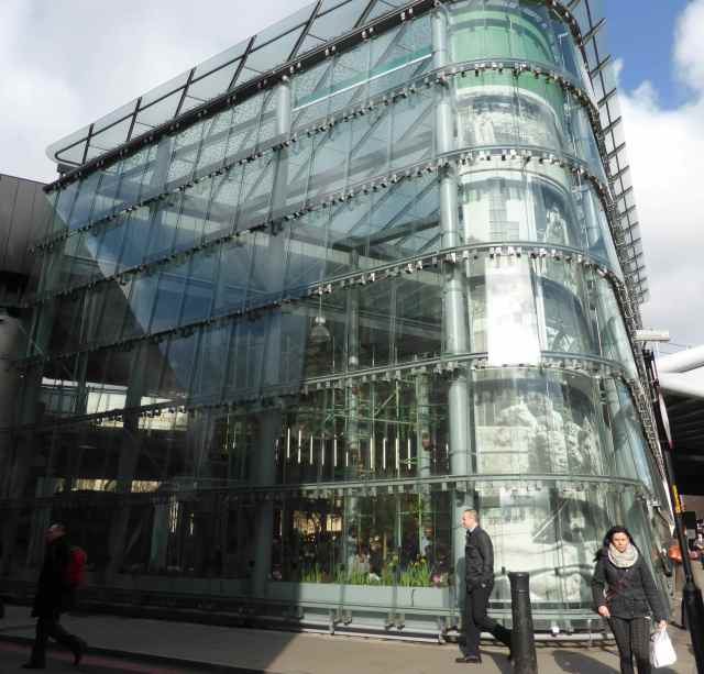 glass building in BM