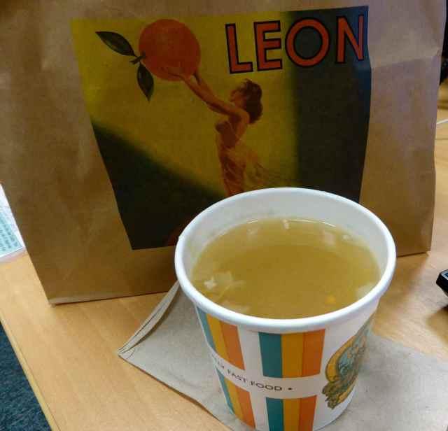 Leon chicken noodle soup