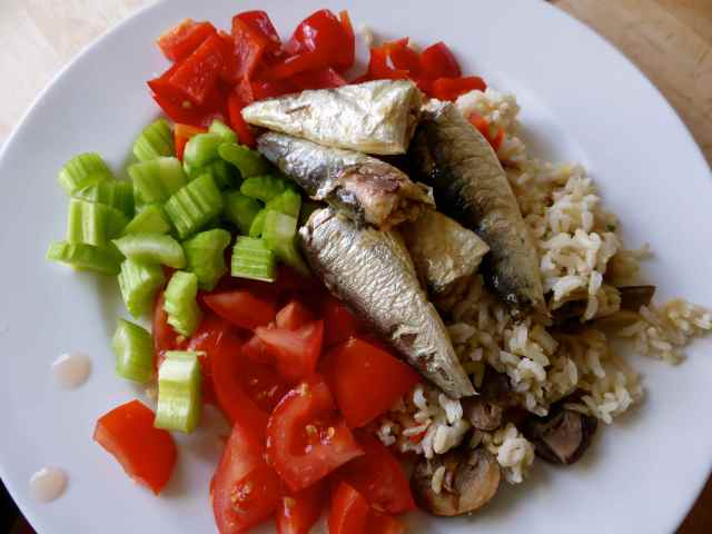 sardines and rice salad