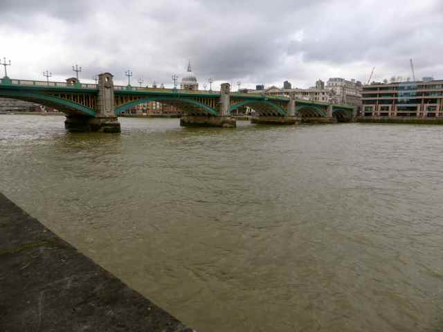 Southwark bridge from Globe