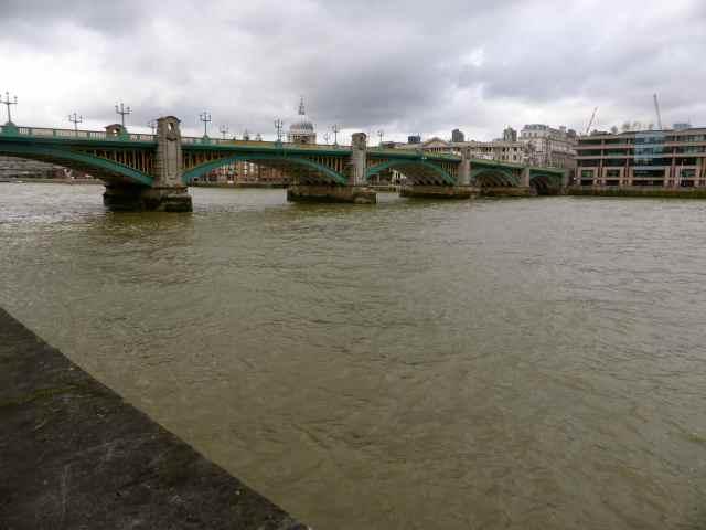 Southwark bridge from Globe