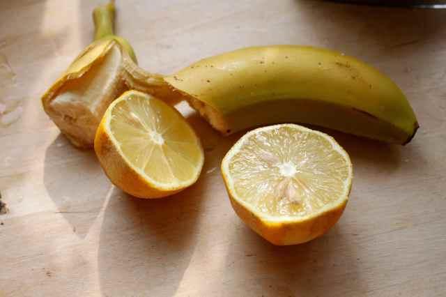 banana and lemon