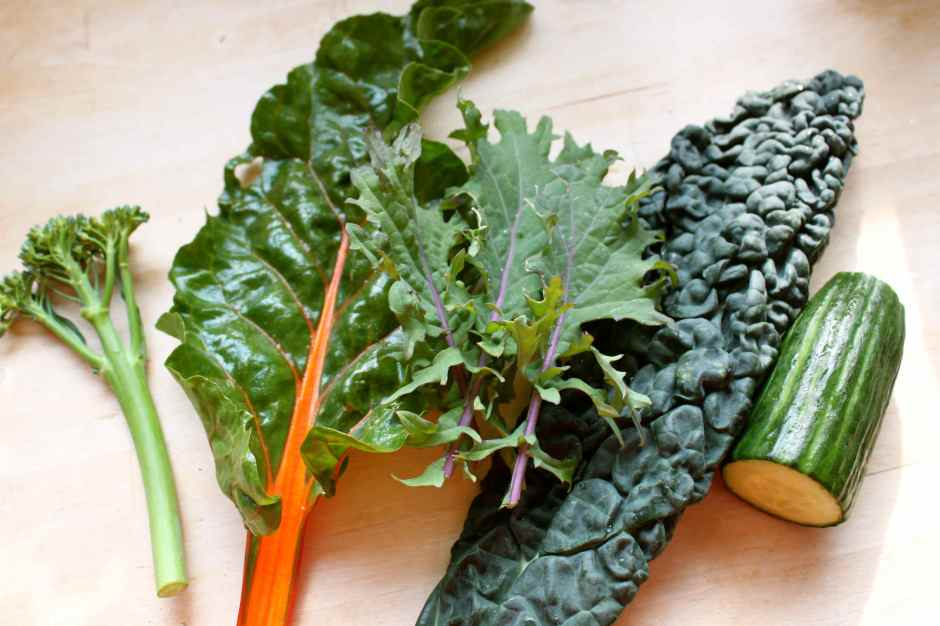 broccoli, chard, c nero and cuc