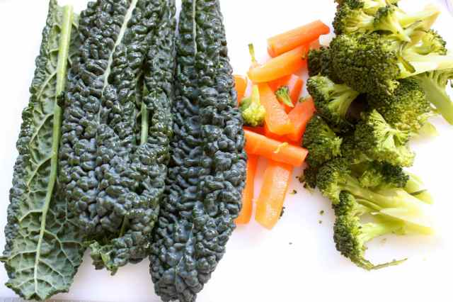 cavolo nero, carrots and broccoli
