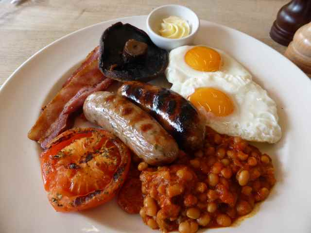 cooked breakfast at Table