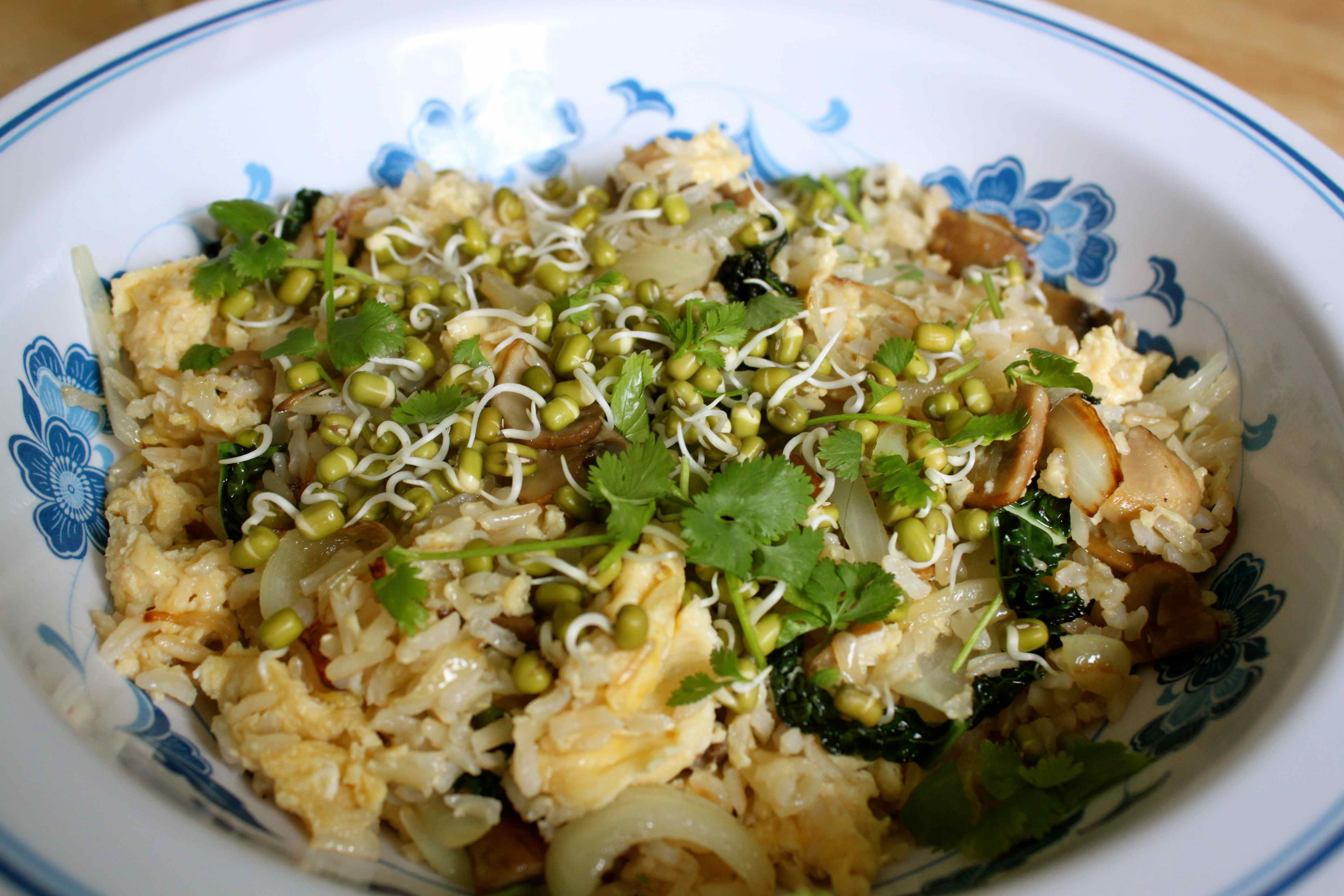 Bean Sprouts Fried Rice Egg Fried Rice And Sprouts