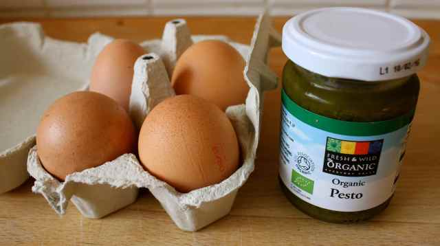 eggs and pesto