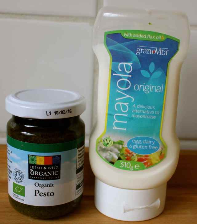 mayo and pesto jars